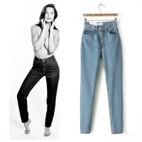 2014 Listing Winter American Apparel /AA Street Fashion Lady Retro High Waist Denim Jeans Harem Pants Trousers Legging
