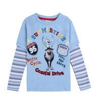 2014 New Design Children T-Shirts Frozen Cartoon Boys Clothes Long Sleeve Children O-Neck TShirt  Frozen Cartoon Shirts