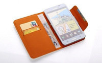 4.3 inch Wallet Leather Flip Case Cover For HTC Desire L / 300 / 500 / 510 dual sim / One mini / 8XT Cell Phone PY