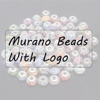 10pcs Fashion Silver Core Screw Thread 925 Stamp Lampwork Glass Beads suit to pandora European bracelets free shipping