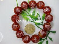 Natural red agate beads bracelet onyx bracelet Buddha word