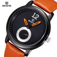 2014 New Watches men Luxury Brand SKONE Original Japanese Quartz Watch Fashion Leather Men Dress watch Casual Men Wristwatches