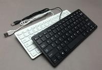 New USB Wired Keyboard Slim Wired White/Black Mini Keyboard For Desktop Apple Mac Windows PC Laptop