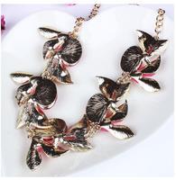 Supernova sale jewelry 2014 women luxury vintage rhinestone flower short pendant&necklace