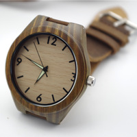 2014 New Brand High-end Palo Santo Wooden Watches With Genuine Cowhide Leather Band Luxury Wood Watches Best Christmas Gifts