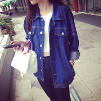 * Panda * 2014 new winter coat vintage denim loose
