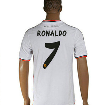 Gifts with 80% off footballs Player 3d 2014 new football polo shirt Brazil Home Real Madrid white Soccer Jersey free shipping(China (Mainland))