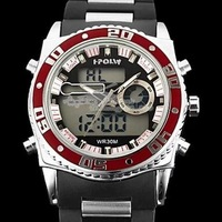 2014 New Brand Boileau 583 Dual Time Zone Digital steel watches Muti-function Sports Military Waterproof  Wrist Watches