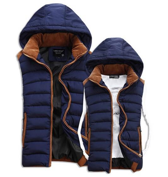 Warm 2014 Winter New Mens vests outdoors down jacket Fashion Waistcoat , men vest slim casual waistcoat free shipping MDP259(China (Mainland))