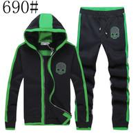 Tracksuits Hooded  Men's Zipper Cardigan Sport Suits Fashion Coats Jacket Set Pants Sportswear Brand Male sweatshirt 2014