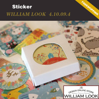 Free shipping Stationery cute Creative Animal Christmas Sealing stickers DIY Multifunction phone sticker 8pack/lot JP410094