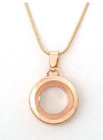 High quality DIY jewelry wholesale   Can open zinc alloy floating locket pendant  round floating lockets