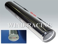 NEW ARRIVAL  OD2''  500MM LENGTH SLIVER DURABLE POLISHED ALUMINUM PIPES FREE CUSTOM LOGO STRAIGHT PIPING