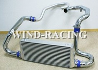 Subaru Impreza WRX 95-2000 Aluminum Piping+Silicone Hose blue+Stainless Steel Clamps Intercooler Subaru Modified Parts