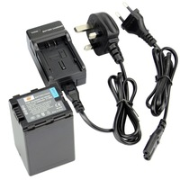 DSTE VW-VBN390 Full Decoded Battery with EU&UK Charger for Panasonic HDC-SD800GK, HDC-TM900, HDC-HS900, HDC-SD900, HC-X900M