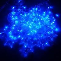 Retail/Wholesale 128 LED String Light 4 x 0.8m 110V Decoration Light for Christmas Party Wedding 4Colors lighting sv18 sv008951
