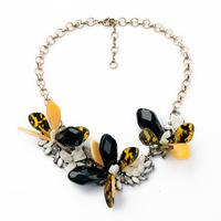 flowers Necklaces & Pendants Hot Sale Transparent Big Resin Crystal Flower Vintage Choker Statement Necklace Fashion Jewelry