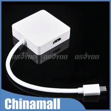 3 in 1 Mini DP DisplayPort To VGA HDMI DVI 1080P Female Cable Adapter Converter Free Shipping & Drop Shipping(China (Mainland))