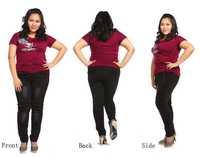 Vintage fat women skinny jeans Plus size 32-42 rhinestone denim pencil pants large size slim trousers Black 2014 free shipping!