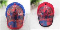 6pcs/lot Kids High quality  New Summer Spiderman Hats Baseball Caps Girls Boy Hats Children Hat Baseball Caps Wholesale
