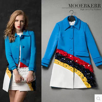 New 2014 fashion popular best-selling fur collar thicken slim long women winter jacket down Single Breasted coat parkas womens