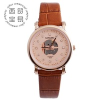 new 2014 women watches mk fashion watch brand genuine leather quartz watch LB8865B-04