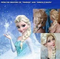 Frozen Wig Synthetic Cosplay Hair Long Curly Hair Wigs ( children aged 5-12 years ) Elsa / Anna Princess White Fluffy Anime Wigs