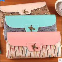 LZ 2014 new sales promotion pu cloth large capacity double zipper female pencil case girls floral print pen bag 19.5*9.5*3cm
