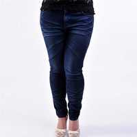 Autumn winter Fat women stretch denim jeans Plus size 32-46 skinny pencil pants large size slim trousers 2014 free shipping!