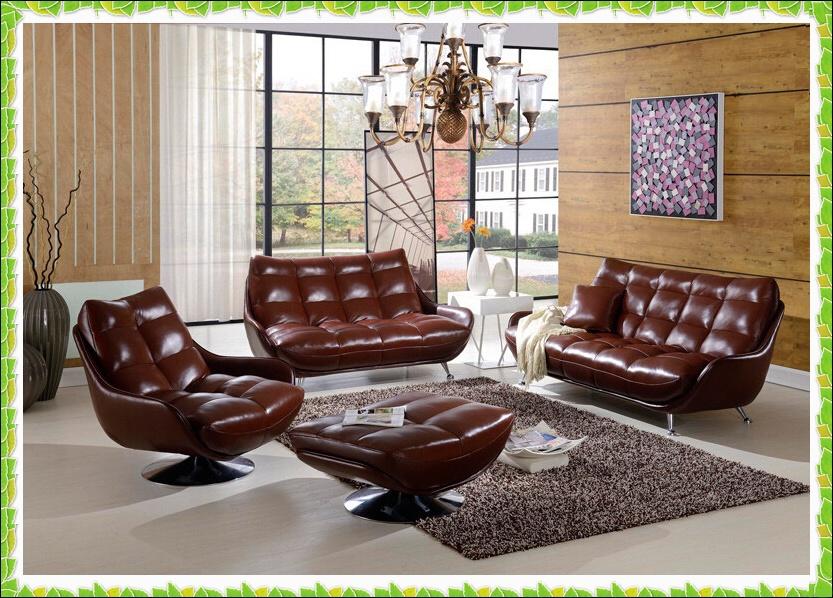 Modern cowhide sectional sofa brown sofa hot selling(China (Mainland))