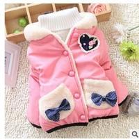 2014 winter girl clothing children outwear 3 colors winter coat
