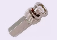 Free shipping 10 Pieces BNC Male Twist On Connector for RG59 Co-Axial Coax Adapter  for CCTV
