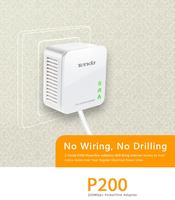 2pcs/Lot Tenda P200 200mbps Powerline Mini Adapter 200mbps US/EU Plug No Drilling No Wire 128bit Encryption AES Power Saving