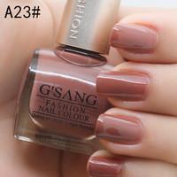 2014 china french G'SANG famous brand free shipping A23# beauty nail art lacquer sweet glaze color bulk nail laquer polish 24pcs