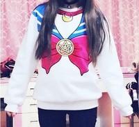 NEW 2015 Sailor moon harajuku Sweatshirts fake faux top cute kawaii cosplay sailor costume new Free Shipping