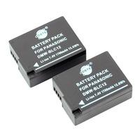 2PCS DSTE DMW-BLC12 Battery compatible for Panasonic Lumix DMC-G5, DMC-G6, DMC-GH2, DMC-FZ200