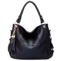 Genuine leather women handbag 2014 vintage shoulder bag tassel crossbody women leather handbag fashion totes women messenger bag