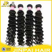 Attractive virgin human hair brazilian deep wave hair