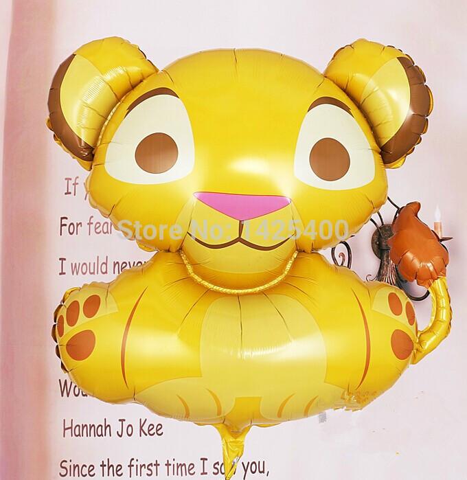 Grátis frete importado alumínio balões festa de aniversário decoração de casamento balão de brinquedo por atacado de alta qualidade leão(China (Mainland))