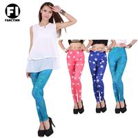 Fancyinn Brand High Quality Super Elastic Women's Full Star Print Leggings Skinny Casual Girl's Slim Pant
