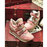 234 free shipping Rivet fashion shoes new fall thick soled shoes high shoes female Nei Zenggao