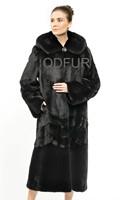 2014 Winter New Fashion Women's Luxury Natural Mink Fur Coat Jacket Hooded Female Fur Outerwear Garment QD70816