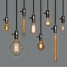 Fixtures bulbo incandescente Retro Vintage Bulbo ST64 T45 DIY hecho a mano de Edison , E27 / 220V / 40W Bombillas lámpara para lámparas pendientes(China (Mainland))