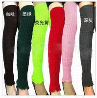 New Fashion Warm Women Ladies Colorful Long Leg Warmers Crochet Jumper Knitted Winter Warm Legging Leg Knee Gaiters 2pairs/lot
