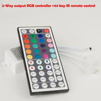 2-Way output 44 key IR remote control +  RGB controller + 12V 10A Power Adapter for 2*5M RGB LED strip light 5050 SMD Flexible