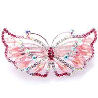 Fashion jewelry leaf rhinestone hair barrette
