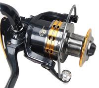 Free Shipping Aluminum Steel 9 BB Ball Bearing Fishing Spinning Reels High Speed 5.5:1 Lj4000