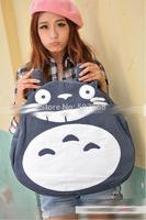 5pcs New designer Brand Logo Two color Cute Totoro Bag Hot Selling Cartoon Shoulder Bag Canvas Bacpack Bag