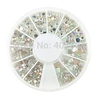 500PCS 6-Size Arcylic Diamond Nail Art Decorations Free Shipping 22#