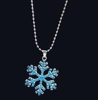 New 5Pcs/lot Alloy Frozen Necklace Silver plated Chain Rhinestone Princess Frozen Elsa Pendants for Girls Wholesale
